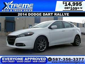 2014 Dodge Dart Rallye $109 BI-WEEKLY APPLY NOW DRIVE NOW