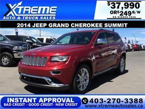 2014 Jeep Grand Cherokee Summit $119 b/w APPLY NOW DRIVE NOW