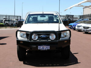 2013 Ford Ranger PX XL 3.2 (4x4) White 6 Speed Automatic Cab Chassis