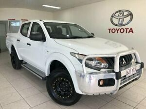 2016 Mitsubishi Triton GLX DOUBLE CAB White Manual Utility Bungalow Cairns City Preview