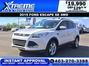 2015 FORD ESCAPE SE 4WD $129 B/W *$INSTANT APPROVAL* APPLY NOW