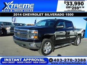 2014 CHEVROLET SILVERADO LT 4X4 *INSTANT APPROVED* $359/BW!