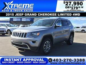 2015 JEEP GRAND CHEROKEE LIMITED *INSTANT APPROVED* $179/B/W