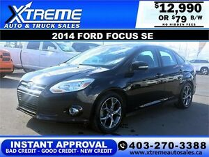 2014 Ford Focus SE $0 DOWN $79 b/w APPLY NOW DRIVE NOW