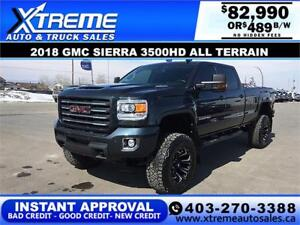 2018 GMC SIERRA 3500HD LIFTED 4X4 *INSTANT APPROVAL* $489/BW!