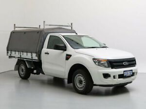 2013 Ford Ranger PX XL 2.5 (4x2) White 5 Speed Manual Cab Chassis
