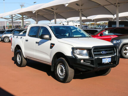 2014 Ford Ranger PX XL 2.2 HI-Rider (4x2) White 6 Speed Automatic Crew Cab Pickup Jandakot Cockburn Area Preview