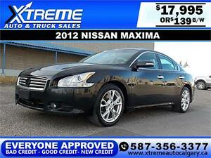 2012 Nissan Maxima 3.5 V6 SV $139 bi-weekly APPLY NOW DRIVE NOW