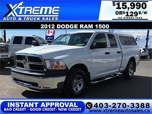 2012 DODGE RAM 1500 ST *INSTANT APPROVAL* $0 DOWN $129/BW!