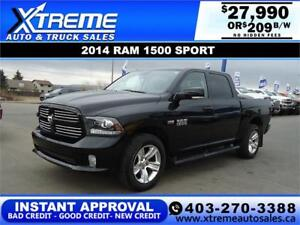 2014 RAM 1500 SPORT CREW CAB *INSTANT APPROVAL* $209/BW!