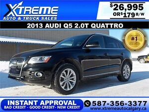 2013 Audi Q5 2.0T Quattro $179 bi-weekly APPLY NOW DRIVE NOW
