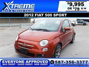 2012 Fiat 500 Sport $79 bi-weekly APPLY NOW DRIVE NOW