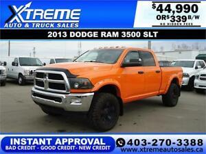 2013 RAM 3500 SLT CREW CAB *INSTANT APPROVAL* $339/BW