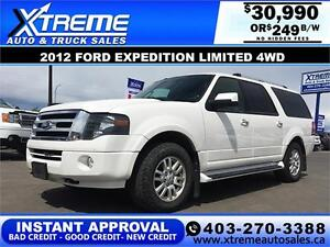 2012 Ford Expedition Max Limited $249 b/w APPLY NOW DRIVE NOW