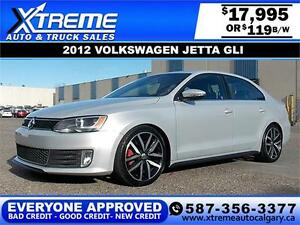 2012 Volkswagen Jetta GLI $119 bi-weekly APPLY NOW DRIVE NOW