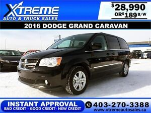 2016 Dodge Grand Caravan $189 bi-weekly APPLY NOW DRIVE NOW