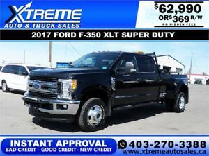 2017 FORD F-350 SD LARIAT DUALLY  *INSTANT APPROVAL* $369/BW!