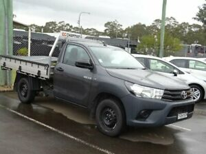 2016 Toyota Hilux TGN121R Workmate Graphite 5 Speed Manual Cab Chassis South Nowra Nowra-Bomaderry Preview