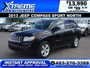 2013 Jeep Compass Sport North $99 b/w APPLY NOW DRIVE NOW