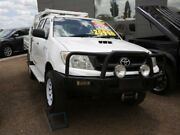 2009 Toyota Hilux KUN26R MY09 SR White 5 Speed Manual Utility Mount Druitt Blacktown Area Preview