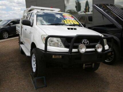 2009 Toyota Hilux KUN26R MY09 SR White 5 Speed Manual Utility Mount Druitt Blacktown Area Preview
