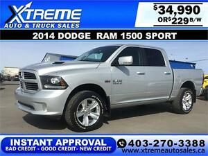 2014 Dodge Ram 1500 Sport $229 bi-weekly APPLY NOW DRIVE NOW