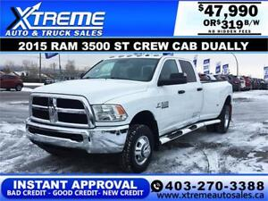 2015 RAM 3500 ST DUALLY *INSTANT APPROVAL $0 DOWN $319/BW!