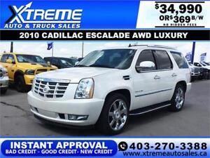 2010 CADILLAC ESCALADE AWD LUXURY $369 B/W! APPLY NOW DRIVE NOW