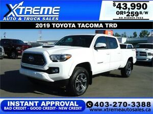 2019 TOYOTA TACOMA TRD NEW!! *INSTANT APPROVAL* $0 DOWN $259/BW!