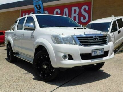 2011 Toyota Hilux KUN26R MY12 SR5 Double Cab White 5 Speed Manual Utility Belconnen Belconnen Area Preview