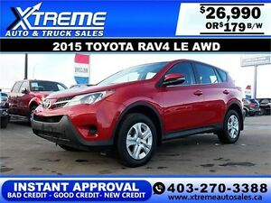 2015 TOYOTA RAV4 LE AWD $179 BI-WEEKLY APPLY NOW DRIVE NOW