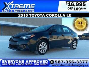 2015 Toyota Corolla LE $109 bi-weekly APPLY NOW DRIVE NOW