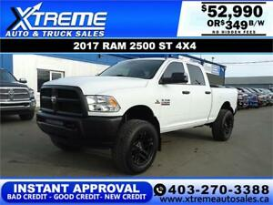 2017 RAM 2500 CREW CAB LIFTED *INSTANT APPROVAL $349/BW!
