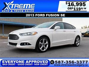 2013 Ford Fusion SE $119 bi-weekly APPLY TODAY DRIVE TODAY