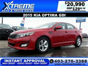 2015 Kia Optima GDI $129 bi-weekly APPLY NOW DRIVE NOW