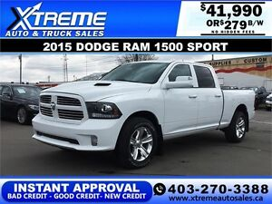 2015 Dodge Ram 1500 Sport +Leather $279 b/w APPLY NOW DRIVE NOW