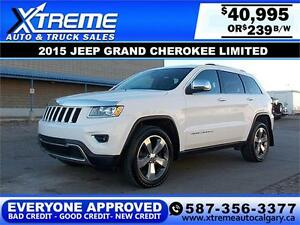 2015 Jeep Grand Cherokee Limited 4x4 $239 bi-weekly APPLY NOW