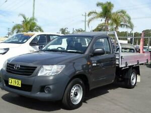 2012 Toyota Hilux TGN16R MY12 Workmate Grey 4 Speed Automatic Cab Chassis South Nowra Nowra-Bomaderry Preview