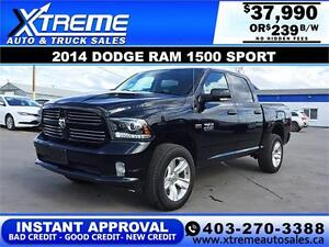 2014 DODGE RAM SPORT LIFTED *INSTANT APPROVAL* $0 DOWN $239/BW!