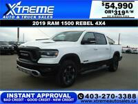 2019 RAM 1500 REBEL CREW CAB *INSTANT APPROVAL* $0 DOWN $319/BW Calgary Alberta Preview