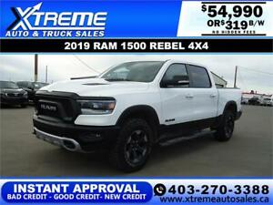 2019 RAM 1500 REBEL CREW CAB *INSTANT APPROVAL* $0 DOWN $319/BW