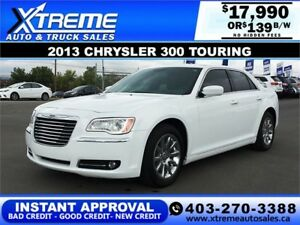 2013 CHRYSLER 300 TOURING $139 Bi-Weekly APPLY NOW DRIVE NOW