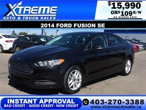 2014 Ford Fusion SE $109 bi-weekly APPLY NOW DRIVE NOW