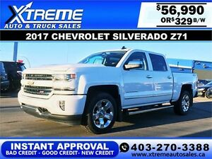 2017 Chevrolet Silverado Z71 $329 bi-weekly APPLY NOW DRIVE NOW