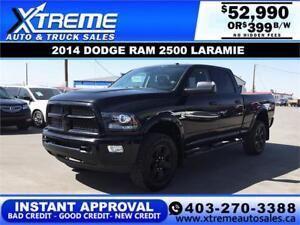2014 RAM 2500 LARAMIE CREW *INSTANT APPROVAL* $0 DOWN $399/BW!