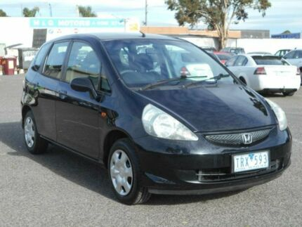 2005 Honda Jazz Upgrade GLi Black Continuous Variable Hatchback Maidstone Maribyrnong Area Preview