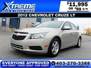2012 Chevrolet Cruze LT $99 bi-weekly APPLY NOW DRIVE NOW
