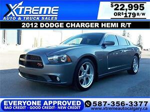 2012 Dodge Charger HEMI R/T $179 bi-weekly APPLY NOW DRIVE NOW
