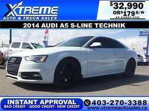 2014 Audi A5 S-Line TECHNIK $179 bi-weekly APPLY NOW DRIVE NOW