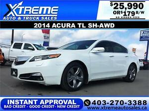 2014 Acura TL SH-AWD $179 bi-weekly APPLY NOW DRIVE NOW